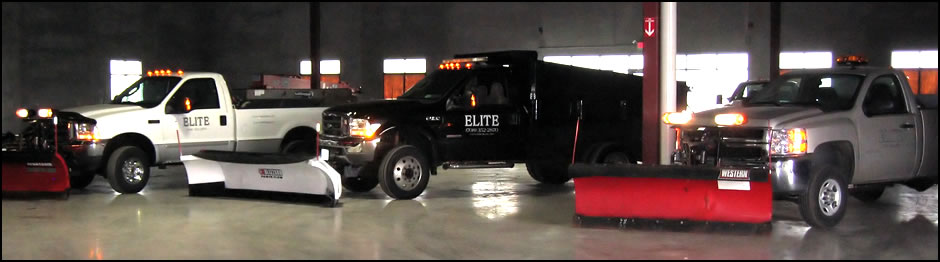 Elite Snow Services Snow Trucks