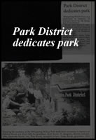 Park District Dedicates Park Picture
